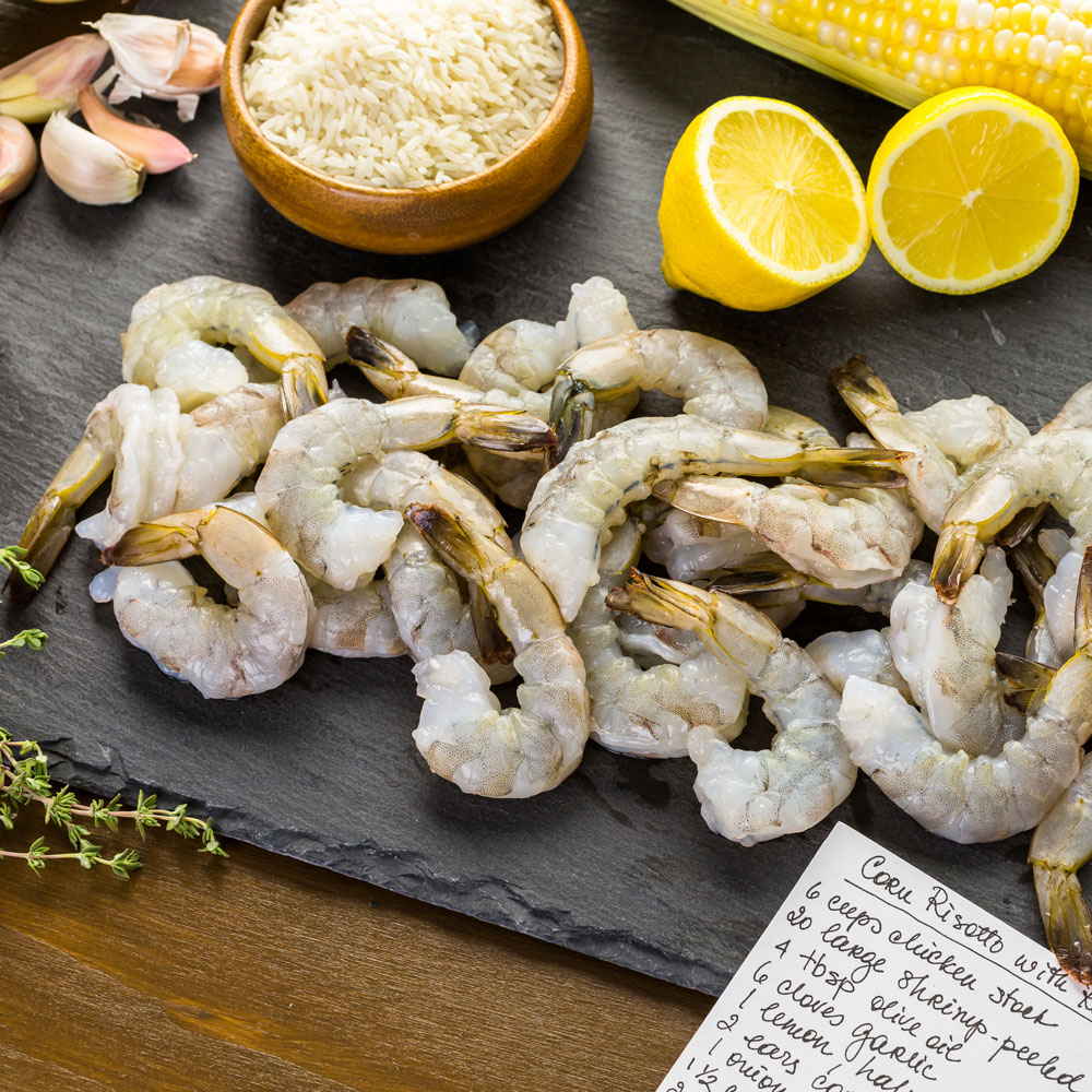 Hottlet, frozen raw peeled shrimp