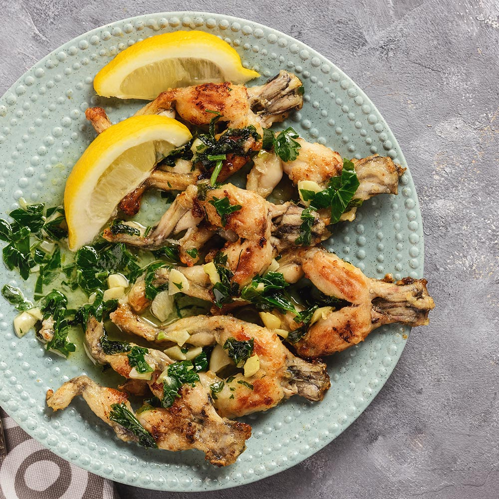 Hottlet-epic baked frog legs on plate