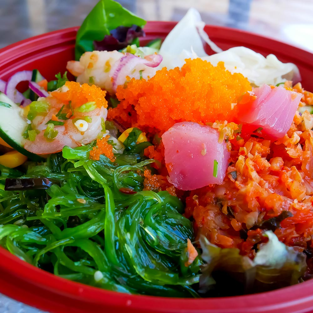Hottlet-Epic Seafood-frozen seaweed and masago salad