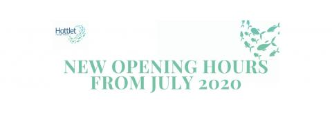 Opening hours from July 2020